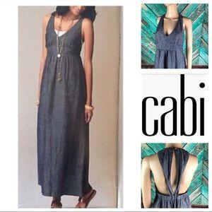 CABi Chambray Linen Maxi Dress